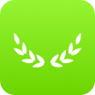 Small icon of a laurel wreath.